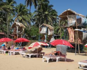 Détente sur la plage de Goa en Inde