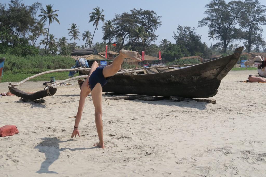 Jeune yogi à Goa