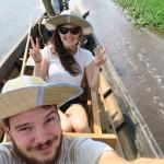 Nous sur un Bateau au lac Inle