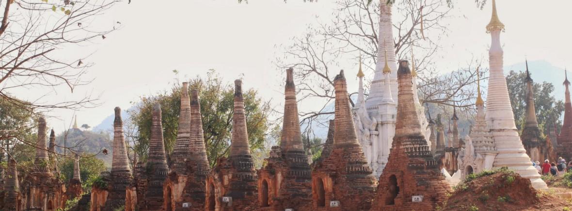 Temples stuppas au Myanmar