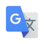 Logo de l'appliction mobile google translate