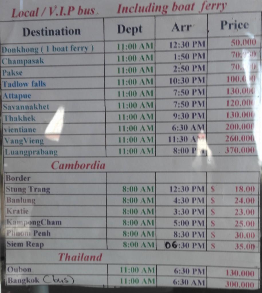 Horaire et prix des bateaux au départ des 4000 islands