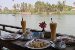 Petit déjeuner guesthouses pakka don Khône
